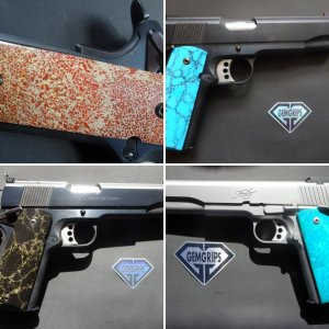some stone 1911 grips I've made